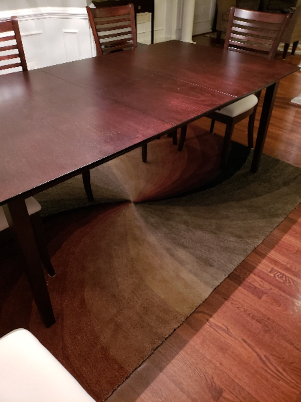 Expandable Espresso Dining Room Set for Sale