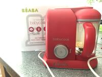 Babycook Pro RED like new ! With recipe book Pointe-Claire, H9R 3S9