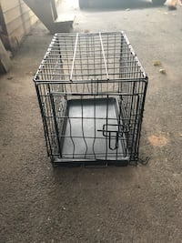 Black Small Dog Crate Silver Spring