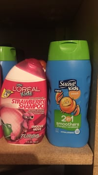 l'oreal and suave kids plastic bottles
