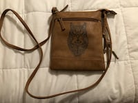 brown and black leather crossbody bag Morristown, 37813