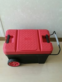 red and black plastic tool box Surrey, V3J 1S3