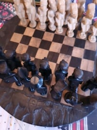 Hand carved Makonde chess set from Tanzania Port Moody, V3H 0C9