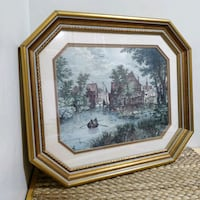 BEAUTIFUL PRINT IN GOLD DECORATIVE FRAME Whitby