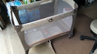 Baby's gray graco travel cot 55 km