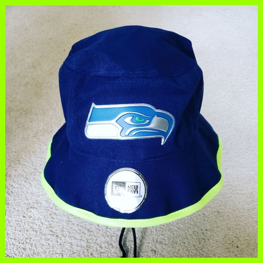 AUTHENTIC NFL FOOTBALL BUCKET HAT.