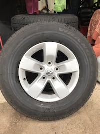 gray 5-spoke car wheel with tire Burlington