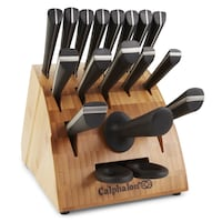 New Calphalon Katana Series 18-Piece Japanese VG-1/32-Layer Damascus Steel Cutlery Set Washington, 20001