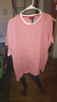 Pink and white striped short-sleeved shirt Dumfries, 22026