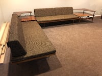 Vintage modern 2 couch 2 table set SILVERSPRING