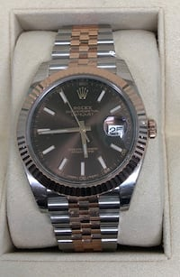 ROLEX Datejust 2 Two-Tone 18k Rose Gold Jubilee and Chocolate Dial NEW!  Costa Mesa, 92627