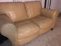 Brown leather 3-seat sofa Alexandria