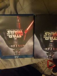 two Star Wars blu-ray disc cases