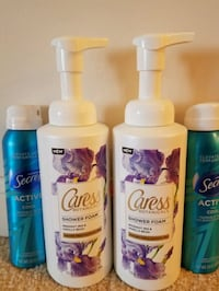2 Caress bodywash and 2 Secret deodorant spray Lot Rockville