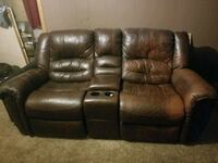 brown leather home theater sofa Leesburg, 46538