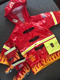 NWT!! 12-18 months fireman jacket + size 5 boots