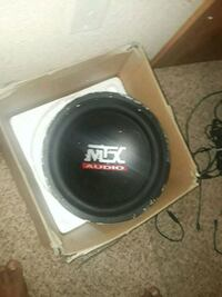 black and gray MTX Audio subwoofer Thornton, 80241