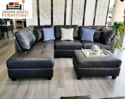 Brand New Espresso Bonded Leather Sectional Sofa