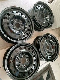 Set of steel rims