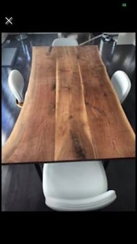 Stylegarage live edge walnut dining table and 4 chairs Toronto, M9A 3P3