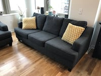 Fabric 3-seat Sofa (w/ Queen Pullout Bed) Jersey City, 07302