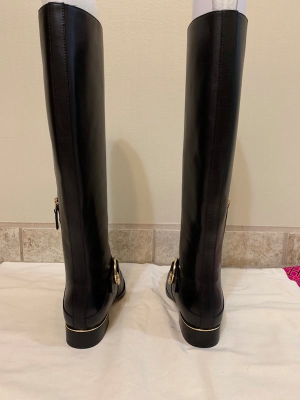 New Tory Burch black riding boots 2