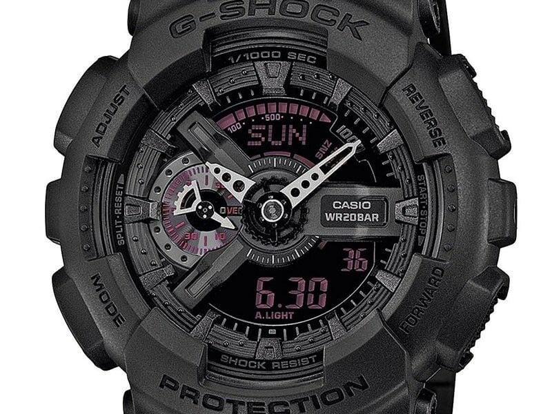 CASIO G-SHOCK military watch GA-110MB black with red accents 03a645ea-816c-41b9-8ee2-9349d0e02d17