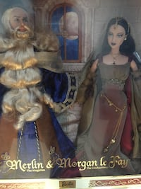 Merlin and Morgan le Fay collectible Barbie set Barrie, L4N 9M6