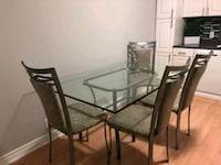 Glass dining table & 4 chairs Toronto, M1M