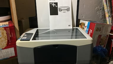 White gray black all in one printer