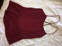 maroon halter strap tops Whitchurch-Stouffville, L4A 0P1