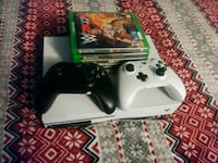 white Xbox One console with controller and game cases Los Angeles, 90032