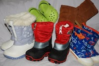 kids WINTER BOOTS, RAIN BOOTS - SIZE 3, 4, 6 Mississauga, ON, Canada