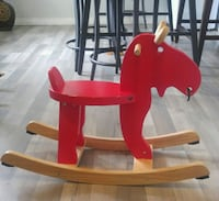 red and brown rocking horse Calgary, T2A