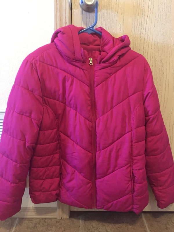 Used Faded Glory Pink Zip Hoodie Jacket For Sale In