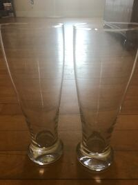 Two tall beer glasses Worcester, 01604