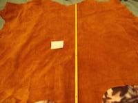 "Tanned Hide roughly 54"" x 40"" nice heavy hide, ""Elk"" Great for cloths or crafts. Hagerstown MD 21742 Orchard Hills"