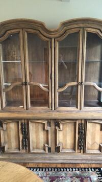 brown wooden framed glass display cabinet Owings Mills, 21117
