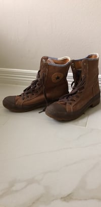 Converse Brown Leather Boots S.7.5 West University Place, 77005