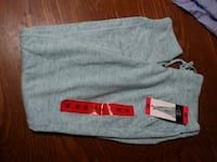 gray and red Nike sweatpants null