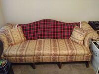 brown and red fabric 3-seat sofa 838 mi