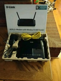 D-Link Modem and Router.