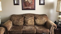 Brown floral 3-seat sofa and brown floral 2 seat sofa Stafford, 22554