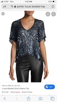 Sequin Parker Top