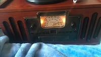 Black and brown console radio 2340 mi
