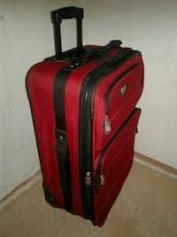 red and black softside luggage Lubbock