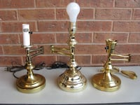 SOLID BRASS ADJUSTABLE TABLE LAMPS Toronto