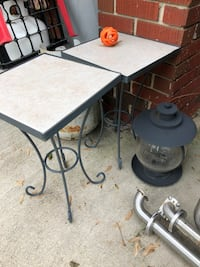 Metal and tile side tables Hagerstown, 21740