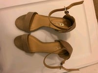 pair of brown leather open-toe ankle strap sandals Weston, 33332