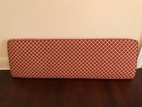 Red/gold bench cushion - custom made